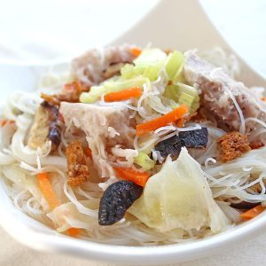 Rice Noodle Soup With Taro