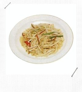 Stir Fried Golden Needle Mushroom With Bean Sprouts