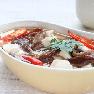 Braised Mushrooms And Tofu